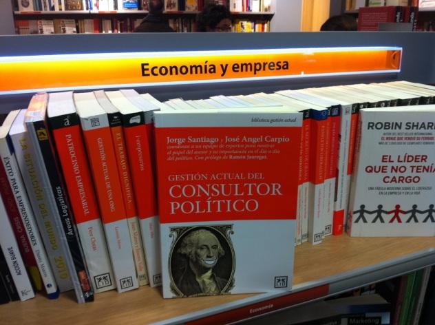 El libro en las estanterías de El Corte Inglés de Goya en Madrid